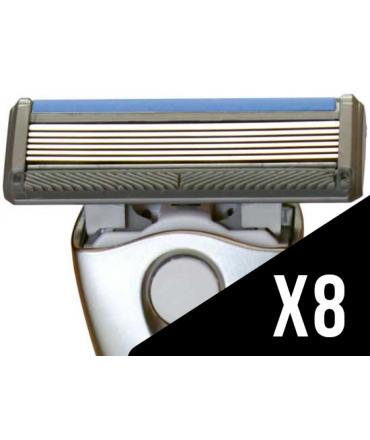 8 lames de rasoir moins cher jusqu 39 1 56 la recharge. Black Bedroom Furniture Sets. Home Design Ideas