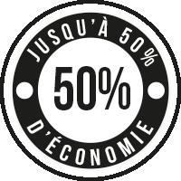 50% d'économie
